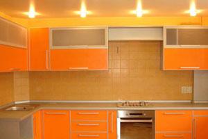 Оранжевые кухни - 10