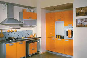 Оранжевые кухни - 11