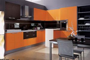 Оранжевые кухни - 12