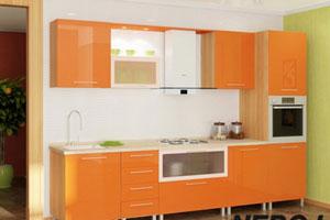 Оранжевые кухни - 13