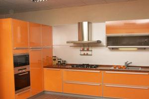 Оранжевые кухни - 14