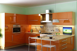 Оранжевые кухни - 6