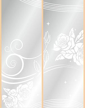 Пескоструй - Цветы - 4287