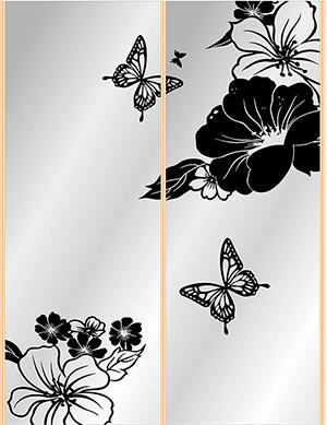 Пескоструй - Цветы - 3787