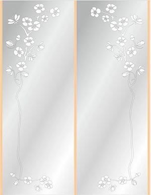 Пескоструй - Цветы - 3786