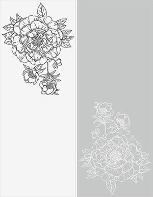 Пескоструй - Цветы - 3354
