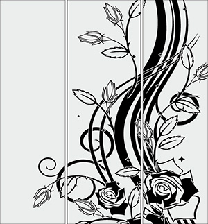 Пескоструй - Цветы - 3265