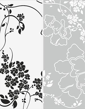 Пескоструй - Цветы - 3191