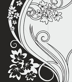 Пескоструй - Цветы - 5117