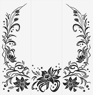 Пескоструй - Цветы - 5062