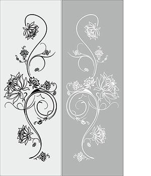 Пескоструй - Цветы - 5369