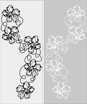 Пескоструй - Цветы - 5366