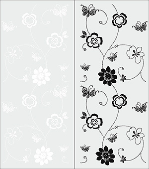 Пескоструй - Цветы - 5363