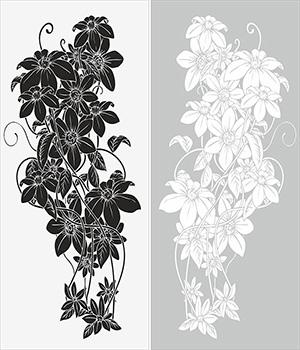 Пескоструй - Цветы - 4254