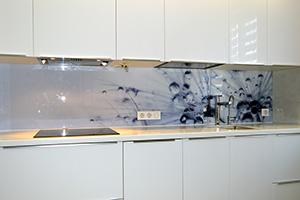 Фартуки для кухни из стекла: фото - 578