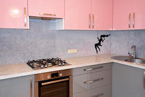 Фартуки для кухни из стекла: фото - 577