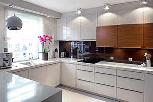 Фартуки для кухни из стекла: фото - 389