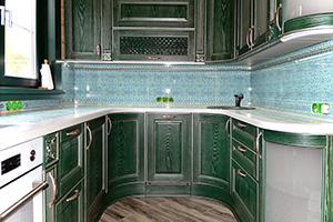 Фартуки для кухни из стекла: фото - 357