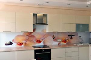 Фартуки для кухни из стекла: фото - 349